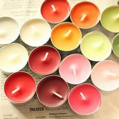彩色蜡烛荧光粉